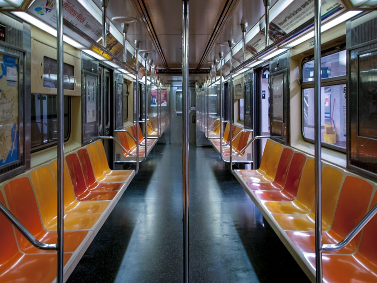 Bus or Bust? The Future of Public Transit in Life After COVID-19, Empty NYC Metro Car. Image © Kit Suman via Unsplash