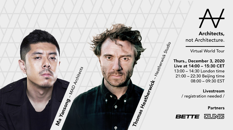 Architects, not Architecture : Ma Yansong x Thomas Heatherwick