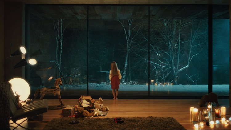 Living With Sky-Frame: Moscow, 'Living with Sky-Frame: Moscow' tells the story of a young girl who imagines her future self as she gazes through a window at a wintry scene. Image via Architonic