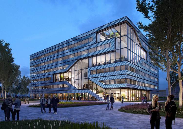 MVRDV Breaks Ground on Matrix 1, a Sustainable Office and Laboratory Complex in Amsterdam, Courtesy of MVRDV