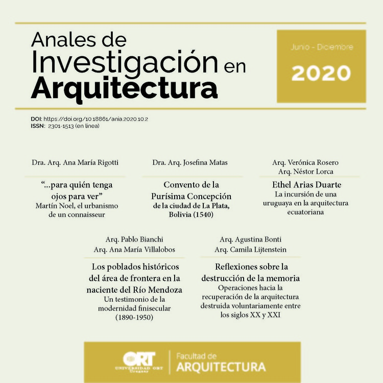 Anales de Investigación en Arquitectura N°2 2020 / FA ORT Uruguay
