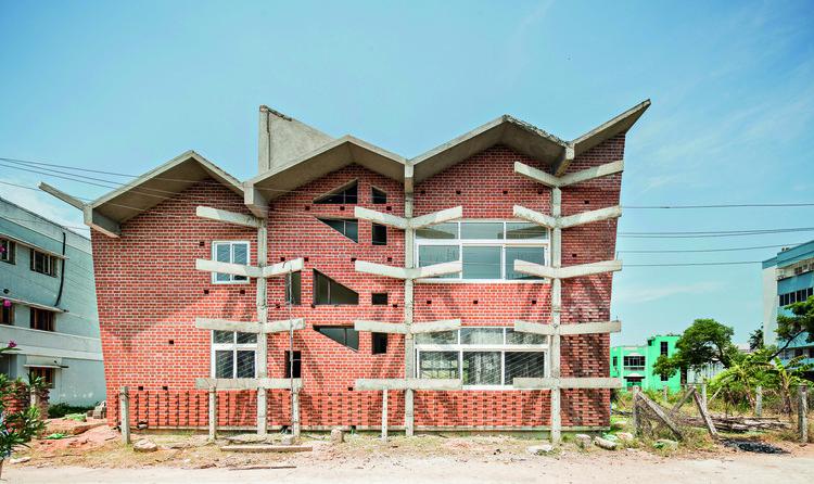 Biblioteca Nacional Sewa Samithi / Anupama Kundoo Architects, © Javier Callejas