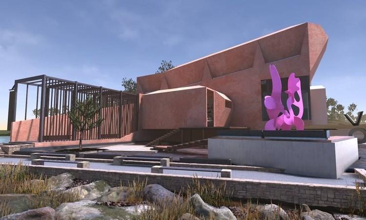 Voma, o primeiro museu de arte totalmente virtual do mundo, O prédio do Virtual Museum of Art, o primeiro museu totalmente digital do mundo. Foto: Divulgação