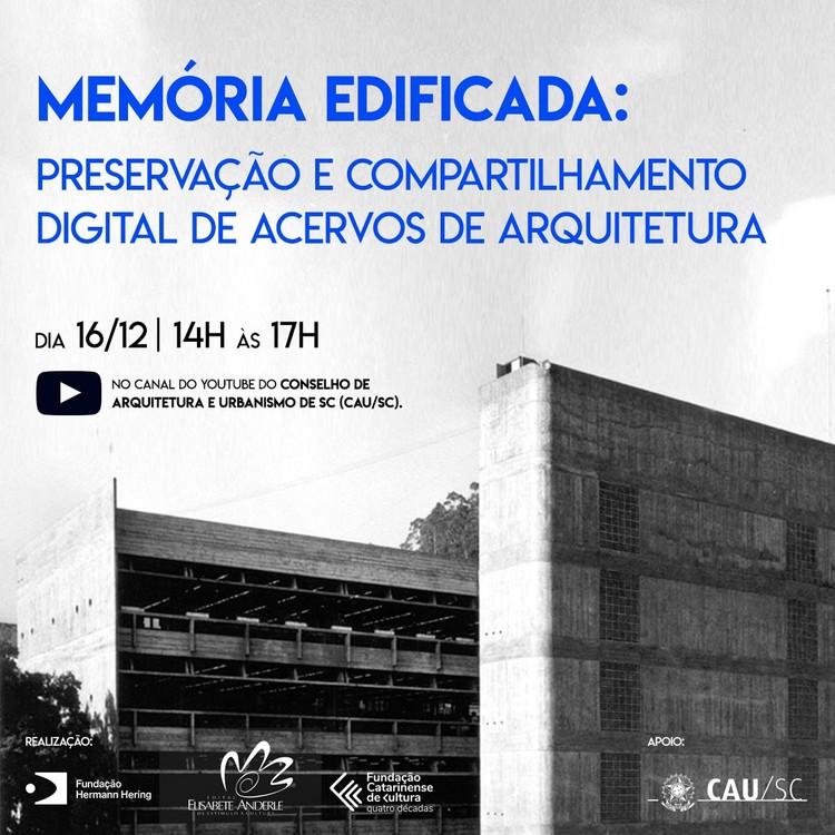 Memória edificada: preservação e compartilhamento digital de acervos de arquitetura, Fundação Hermann Hering / Divulgação