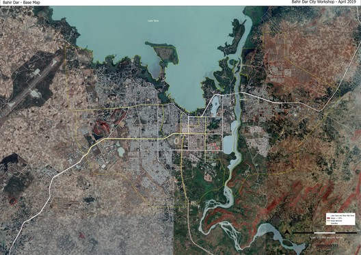 Satellite image of Bahir Dar (Ethiopia) Support of the Sustainable Structure Plan of Bahir Dar. Image Courtesy of UN-Habitat