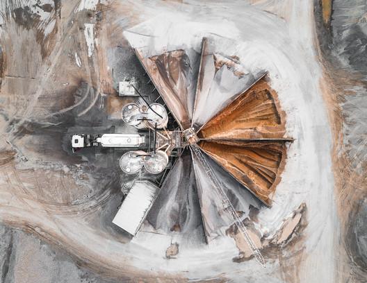 open pit mining in Augsburg, Germany. Image © Tom Hegen