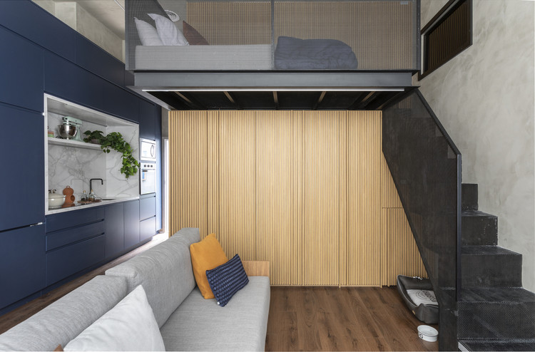 Quality Spaces in Small Areas: Brazilian Apartments Below 50m2, Ibira Apartment / Sala2 Arquitetura. Photo © Evelyn Muller