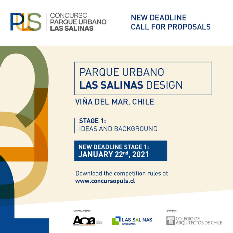Call for Proposals: Design an Urban Park in Chile's Coastal Region of Viña del Mar, Courtesy of Las Salinas and AOA (Chilean Architecture Offices Association)