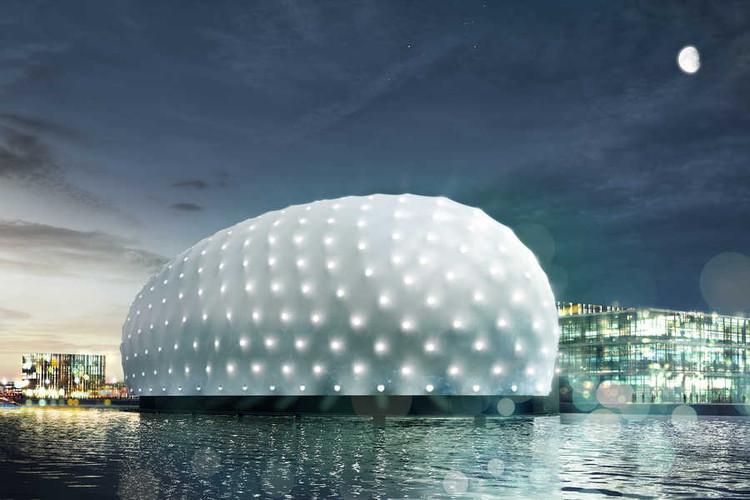 ZJA Architects diseña un museo submarino a partir de un barco naufragado, Cortesía de ZJA
