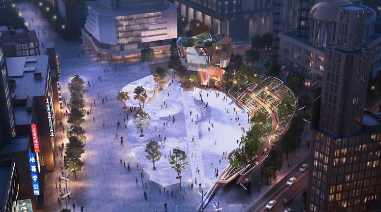 Miralles Tagliabue EMBT gana el concurso para renovar la Century Square de Shanghái, China, Cortesía de Miralles Tagliabue EMBT