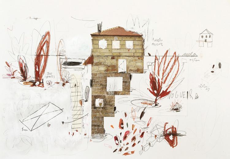 Explorando a anatomia arquitetônica: entrevista com Corpo Atelier, Uma casa, uma nogueira e um terraço. Image Cortesia de Corpo Atelier