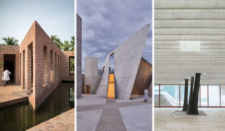 The 10 Most Liked Photos in @archdaily Instagram in 2020, Images used: Friendship Hospital Satkhira / Kashef Chowdhury/URBANA. Image © Asif Salman | National Holocaust Monument / Studio Libeskind. Image © doublespace photography | The Nordic Pavilion (Giardini, Venice). Image © Åke E:son Lindman