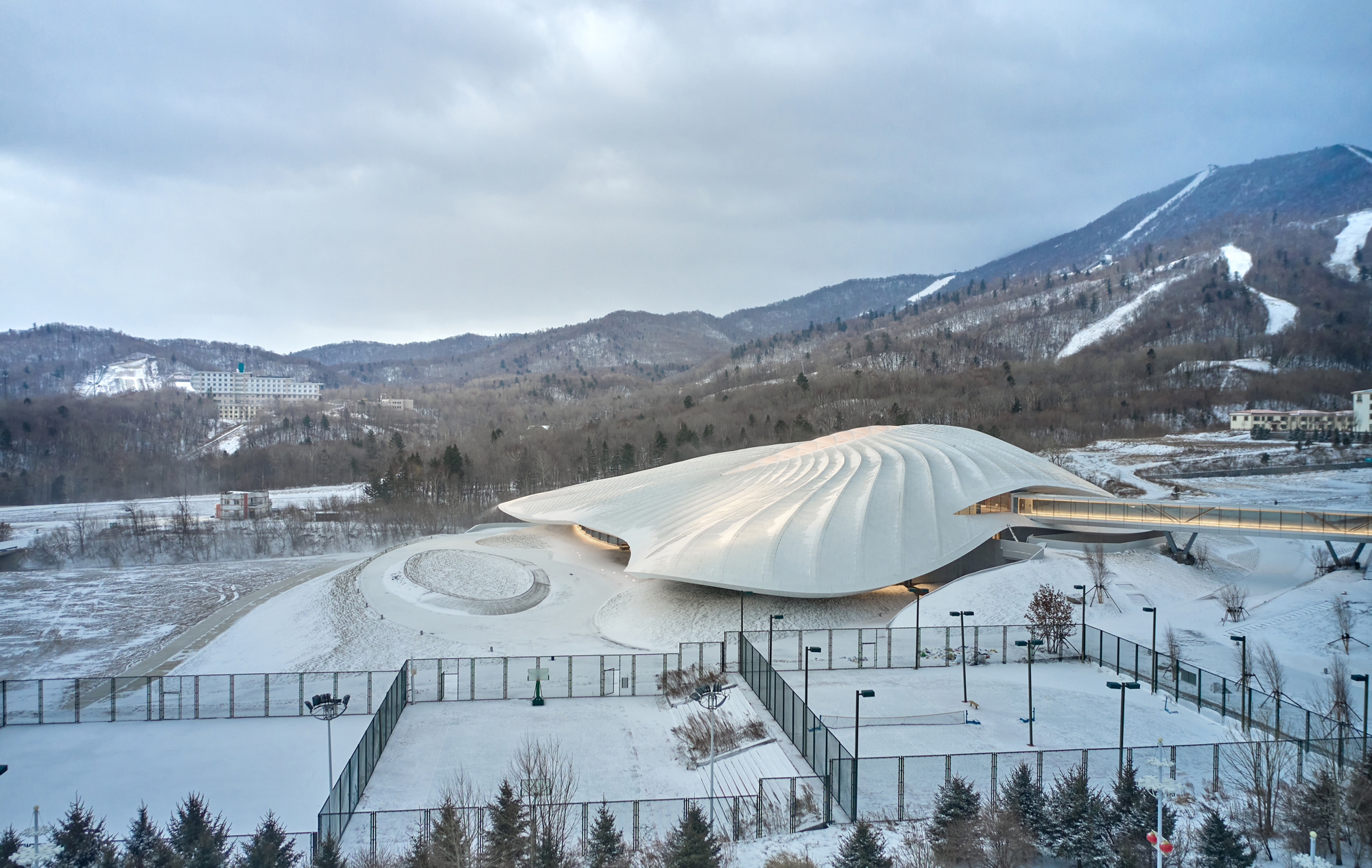 MAD's Yabuli Congress Center Nears Completion in China | ArchDaily