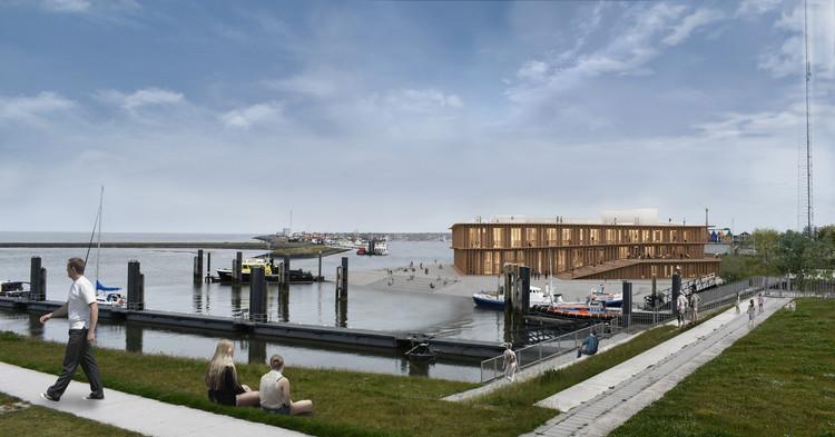 Dorte Mandrup Reveals Design for the Wadden Sea World Heritage Center, in Lauwersoog, Netherlands, Courtesy of Dorte Mandrup
