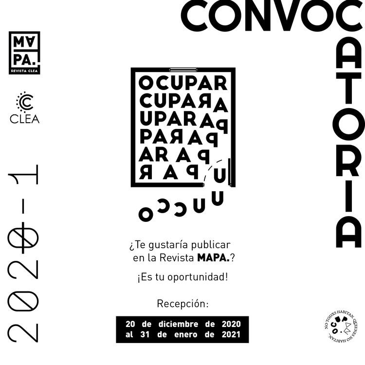 Convocatoria Revista MAPA: OCUPAR, Editorial CLEA