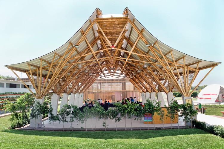 Auditorio de Bambú / Instituto de Vivienda, Urbanismo y Construcción de la USMP, © Yann Barnet
