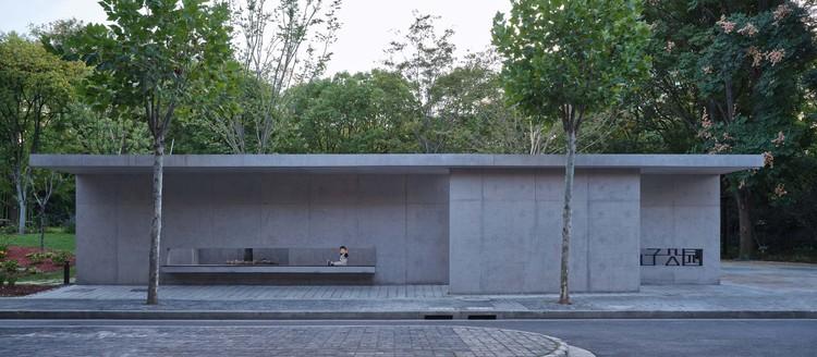 Jiu Zi Park / TJAD Original Design Studio, pavilion toilet. Image © ZY Architectural Photography