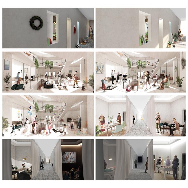 Ganador del premio pragmático - Una casa no es un hogar - Qin Ye Chen y Yiwen Wang. Imagen cortesía de Arch Out Loud