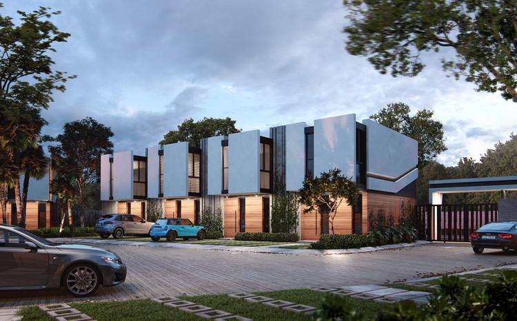 Bay Architectura presenta Punta Ghana Garden Villas en República Dominicana, cortesía de Cubico 3D