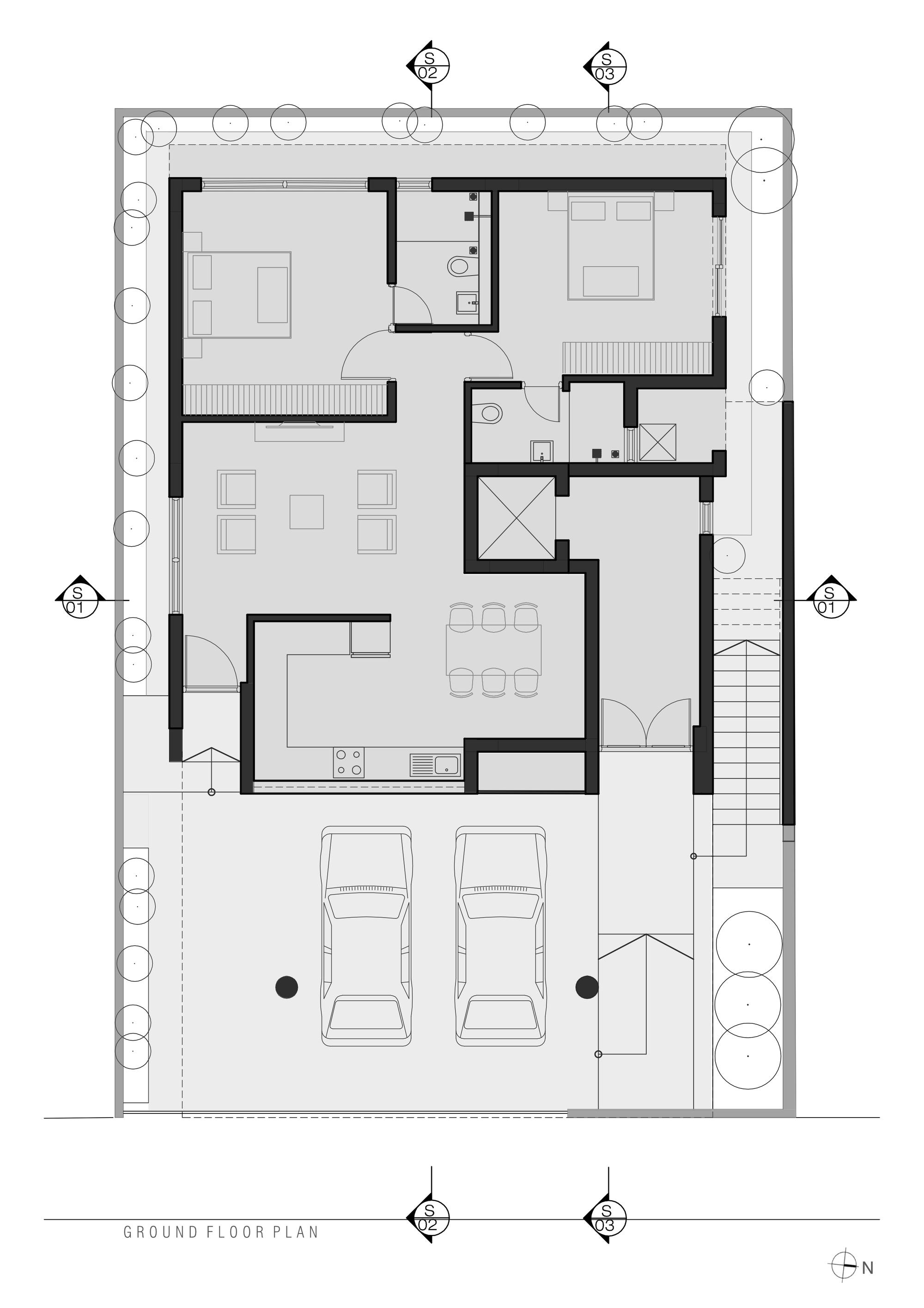 Galeria De Residencia Arranjo De Tijolos Greyscale Design Studio 28