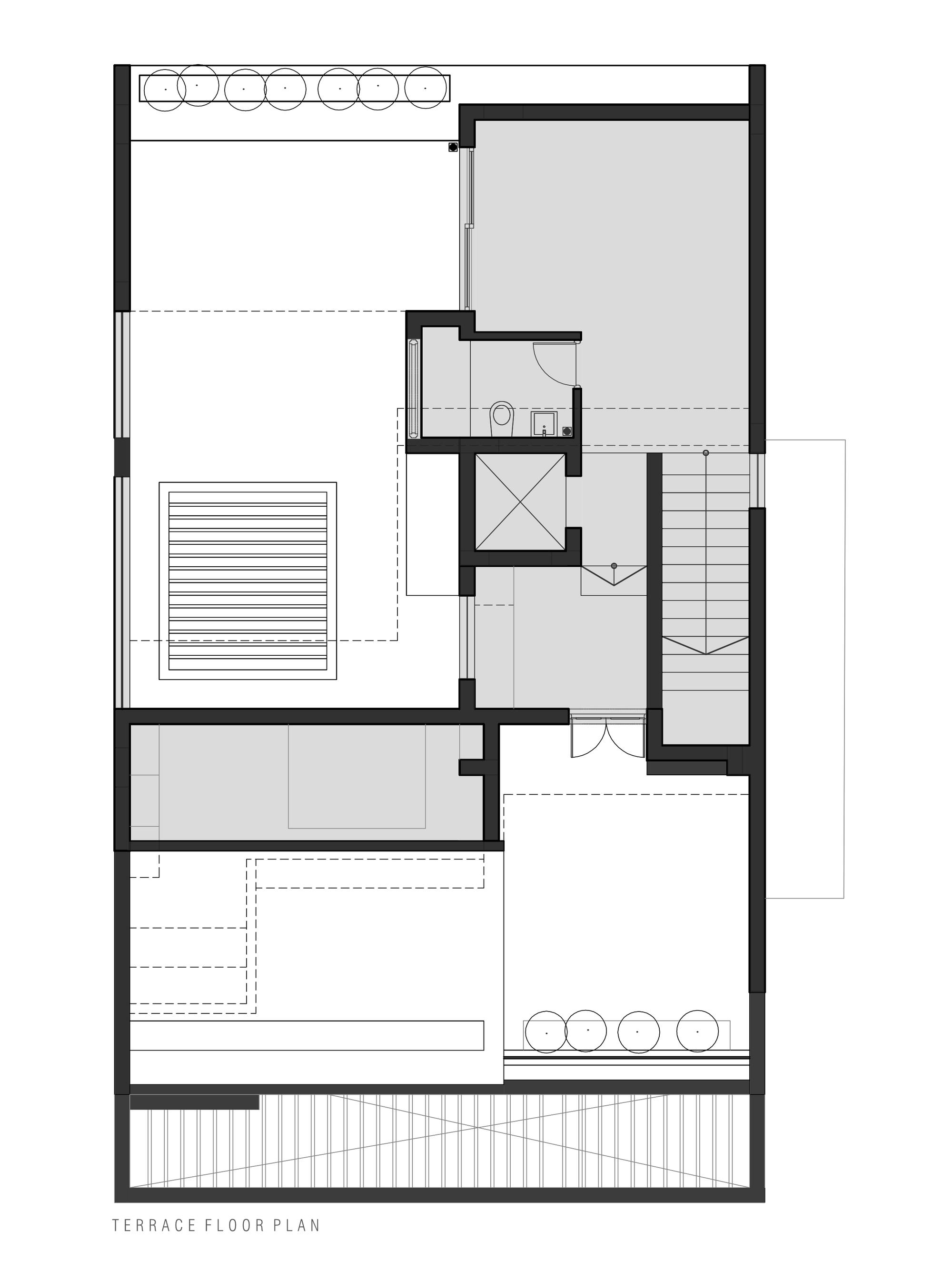 Galeria De Residencia Arranjo De Tijolos Greyscale Design Studio 24