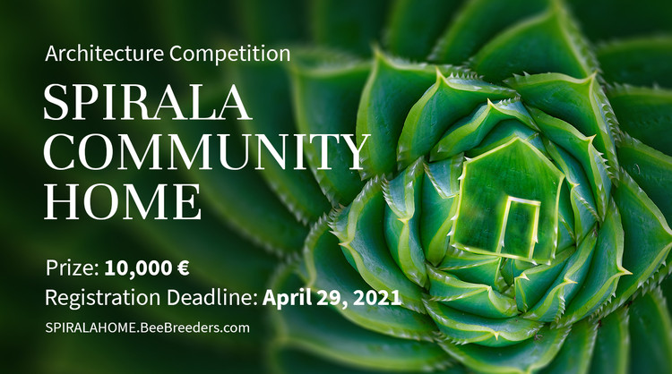 Spirala Community Home, Enter the Spirala Community Home  Architecture Competition now! 10,000 € in prize money! Closing date for registration: APRIL 29, 2021