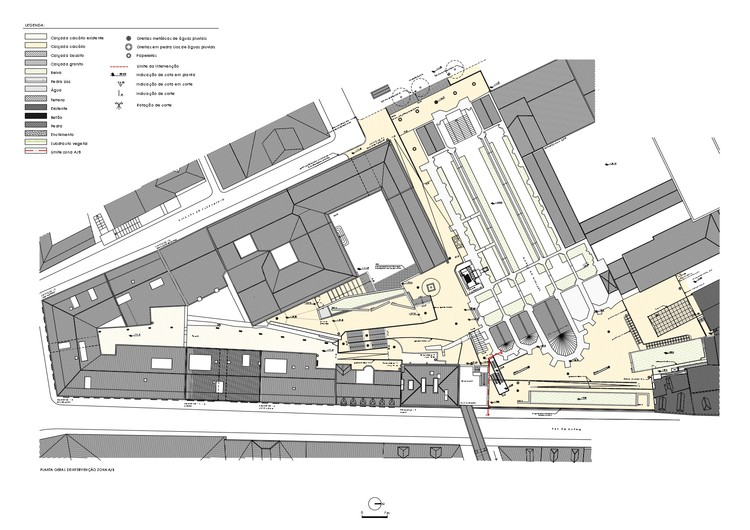 Site Plan of the Intervention - Areas A/B