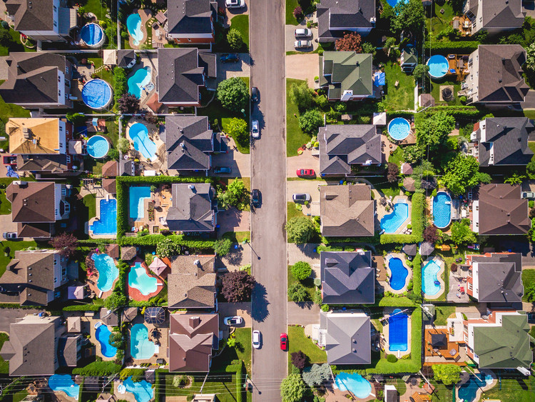 A residential neighbourhood in Montreal, Canada. Image © R.M. Nunes | Shutterstock