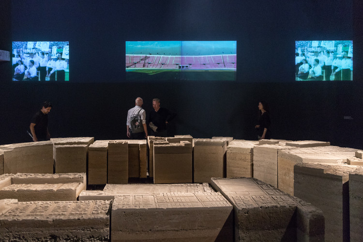"""Stadium"" Exhibition at the 2018 Venice Biennale / Alejandra Celedón. Photo: © Laurian Ghinitoiu"