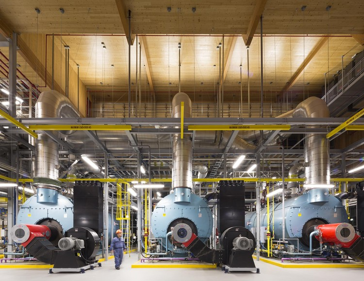 Is It Time To Start Thinking About Wooden Industrial Buildings?, Interior. The University of British Columbia (UBC) Campus Energy Centre / DIALOG. Image © Ema Peter Photography