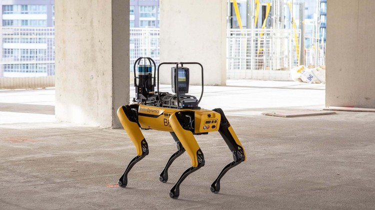 How Does Spot Work? The Robot That Compares Design to Reality at the Construction Site, Courtesy of Foster + Partners