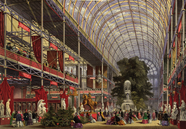 From Ancient Rome to Contemporary Singapore: The Evolution of Conservatories, The Crystal Palace Exhibition, London, painting / Special Collections, University of Maryland Libraries; Hornbake Digitization Center. Image Courtesy of Princeton Architectural Press