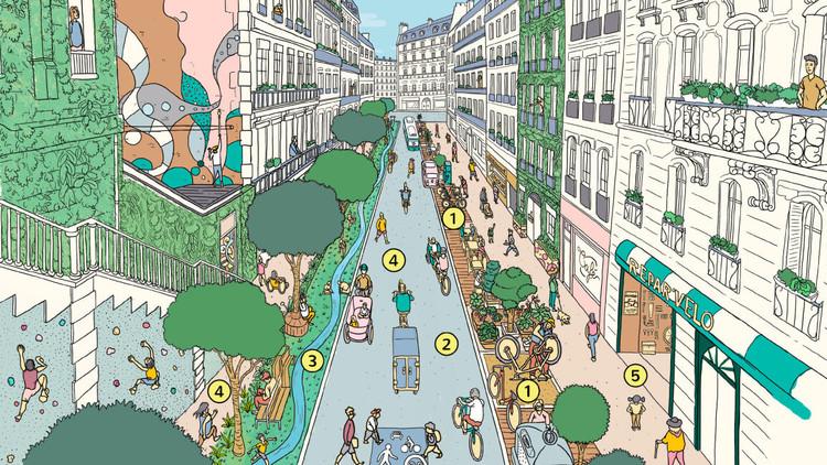 Revisando el futuro urbano con la implementación de ciudades de 15 minutos, vía Paris En Common