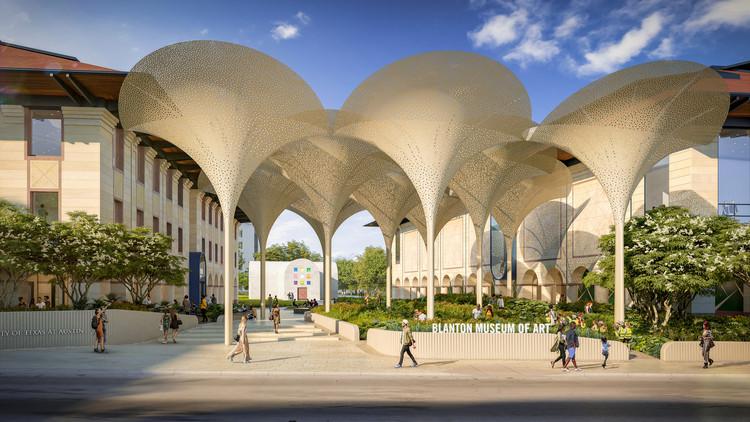 Snøhetta diseña restauración arquitectónica y paisajística para el Museo de Arte Blanton en Austin, Cortesía de Museo de Arte Blanton
