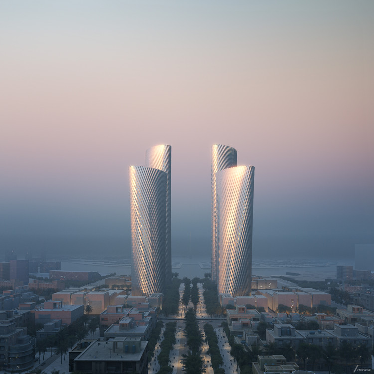 Foster + Partners Unveils Lusail Towers in Qatar, a Landmark Project for a New Central Business District in the City, © Tmrw courtesy of Foster + Partners