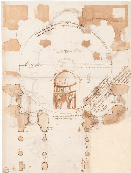 Reaffirming the Essential Role of Drawing in Design, Early 16th Century drawing by Baldassare Peruzzi. Image Courtesy of ORO Editions