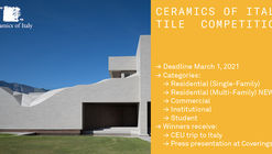 Ceramics of Italy 2021 Tile Competition