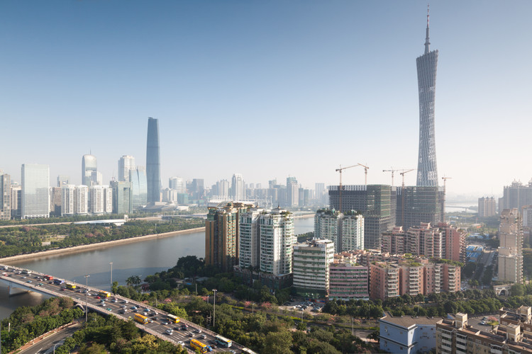 Serious Question: How Will Our Future Cities Look?, Panorama of Zhujiang New Town, Guangzhou, China. Image © Shutterstock - Pavel L Photo and Video