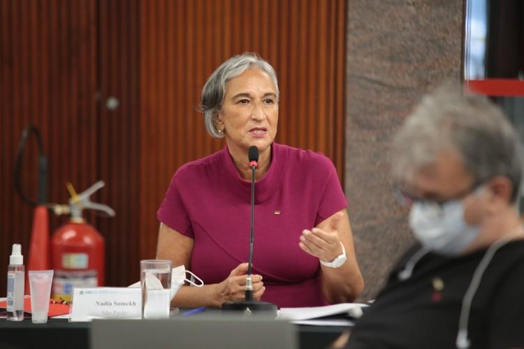 Nadia Somekh é a primeira mulher eleita presidente do CAU/BR, Nadia Somekh. Imagem cortesia de CAU/BR