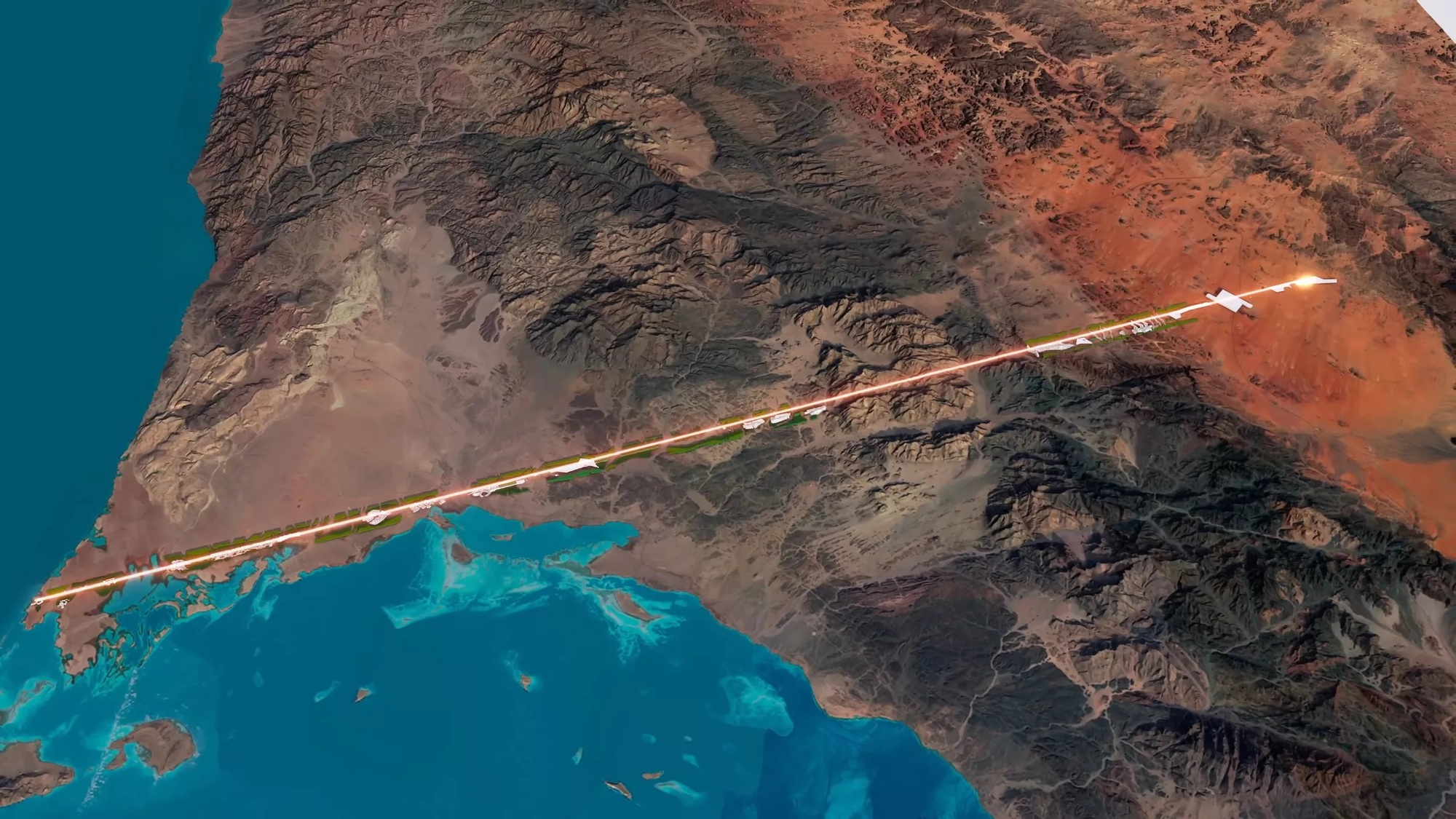 Saudi Arabia Unveils Plans for Hundred-Mile-Long Linear City | ArchDaily