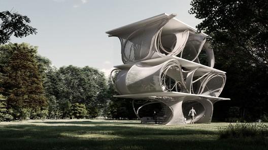 Slab House Proposal / Skeleton. Image Cortesía de reBENT