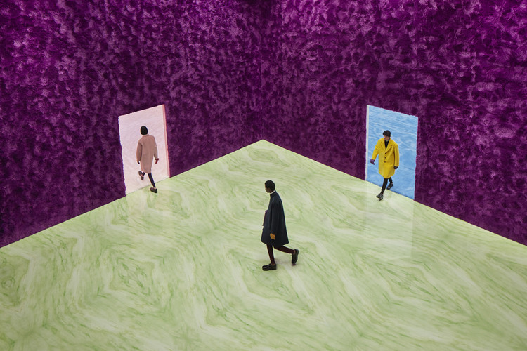 Rem Koolhaas Explores the Sensory Quality of Materials at the Prada FW21 Menswear Showspace, Courtesy of Prada Group