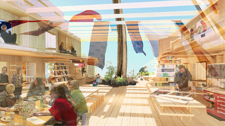 Nordic Pavilion to Be Transformed into an Experimental Co-Housing Project for the 2021 Venice Biennale , © Helen & Hard