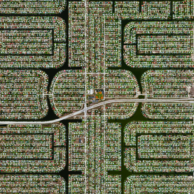 Cape Coral, Florida. Created by @dailyoverview, source imagery: @maxartechnologies
