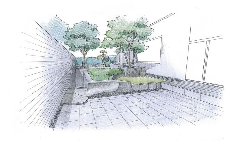 sketch_entrance and lawn area