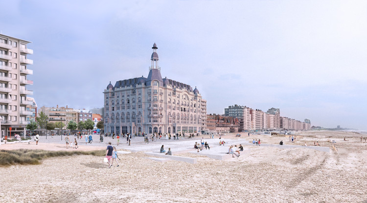 David Chipperfield revela planes para restaurar el icónico Gran Hotel de Nieuwpoort, Bélgica, © David Chipperfield Architects