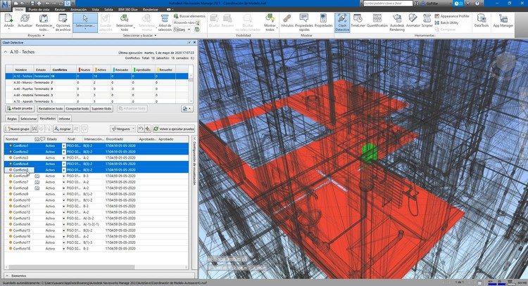 Which Are the Most Demanded BIM Profiles in Large Architecture Studios?, Autodesk Navisworks Manage. Image Cortesía de GoPillar Academy