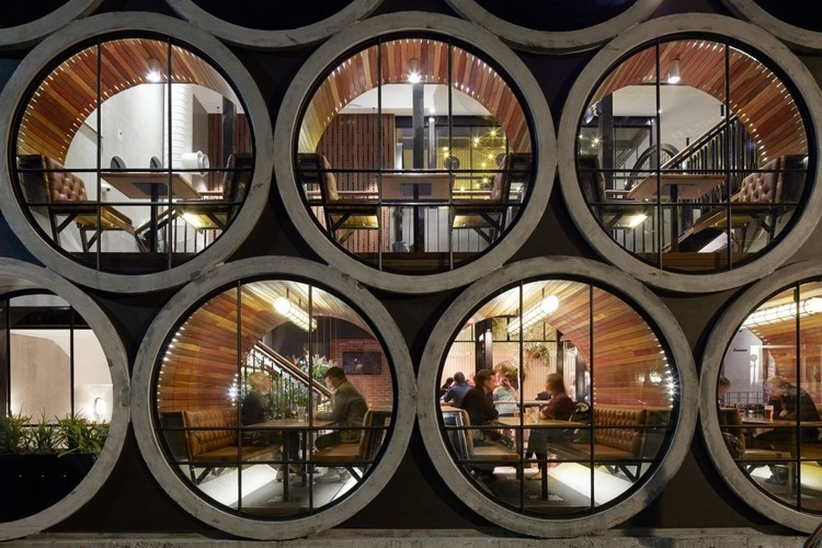 Concrete Pipes Transformed Into Architectural Elements and Living Spaces  , Prahran Hotel / Techne Architecture + Interior Design. Image © Peter Clarke