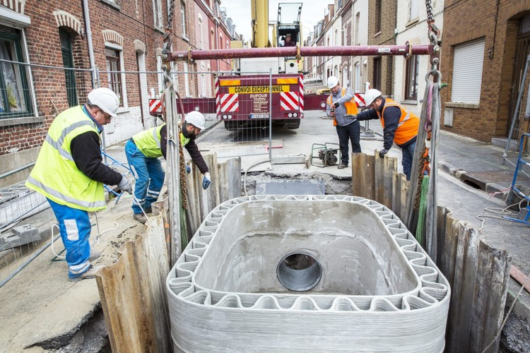 Stormwater regulator in Lille, France. Image Courtesy of XtreeE