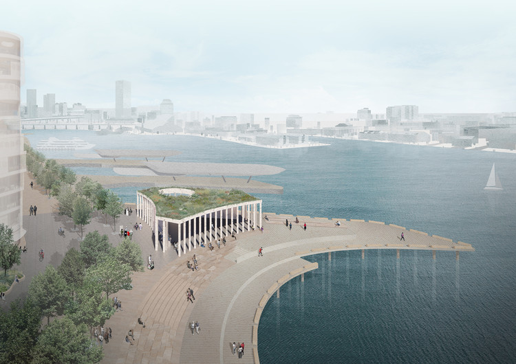 Pavilhão no porto de Sydney será construído com conchas de ostras recicladas, Cortesia de ©SPRESSER, Peter Besley
